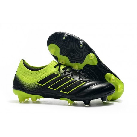adidas Copa 19.1 FG Soccer Boots Black Solar Lime