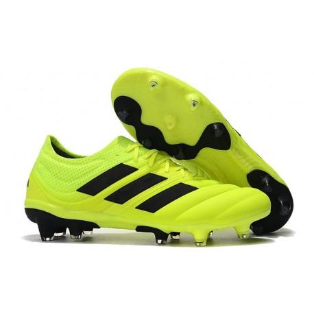 adidas Copa 19.1 FG Soccer Boots Solar Yellow Black
