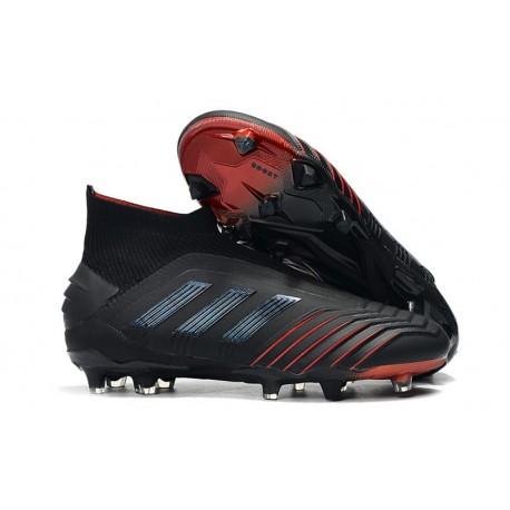 adidas Predator 19+ FG Soccer Cleats Black Red