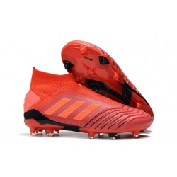 adidas Predator 19+ FG Soccer Cleats Active Red