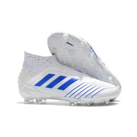 adidas Predator 19+ FG Soccer Cleats Virtuso White Blue