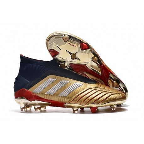 adidas Predator 19+ FG Zidane X Beckham Gold Metallic Silver Navy