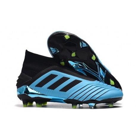 adidas Predator 19+ FG Soccer Cleats Bright Cyan Core Black