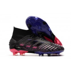 adidas Predator 19+ Firm Ground Boots Black Pink Blue