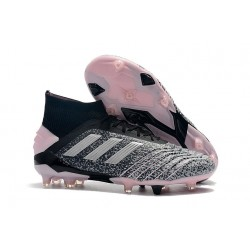 adidas Predator 19+ Firm Ground Boots Black Grey Pink