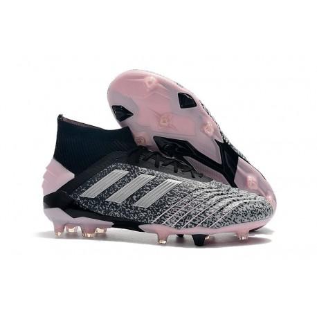 adidas Predator 19+ Firm Ground Boots Black Grey Pink