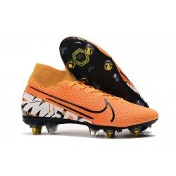 Nike Mercurial Superfly 7 Elite SG-PRO Anti-Clog Orange White