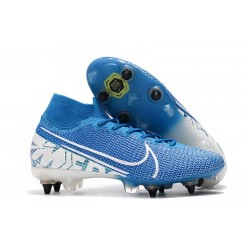 Nike Mercurial Superfly 7 Elite SG-PRO Anti-Clog Blue White