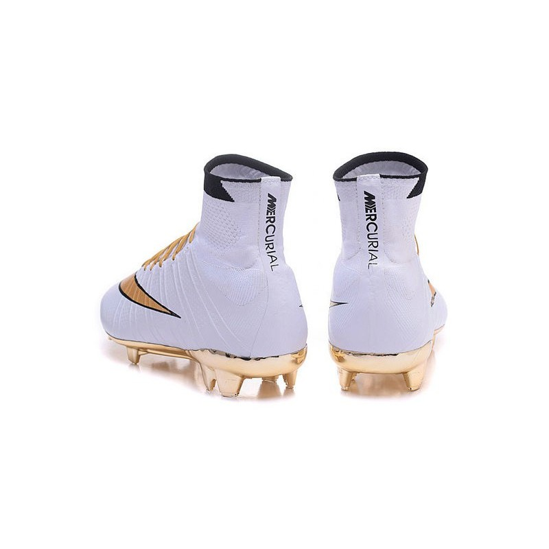 New Nike Mercurial Superfly Iv Fg Soccer Boots Gold White