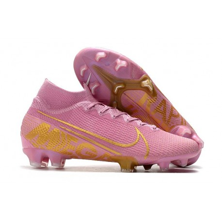 Nike Mercurial Superfly VII Elite FG Cleat Pink Gold