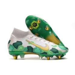 Nike Mercurial Superfly 7 Elite SG-PRO Anti-Clog Mbappé Vast Grey Gold Electro Green