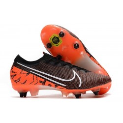 Nike Mercurial Vapor 13 Elite SG-Pro Anti-Clog Black White Hyper Crimson