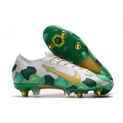 Nike Mercurial Vapor 13 Elite SG-Pro Anti-Clog x Mbappé Vast Grey Gold Electro Green