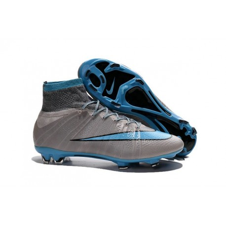 Shoes For Men - Nike Mercurial Superfly IV FG Football Cleats Grey Blue Black