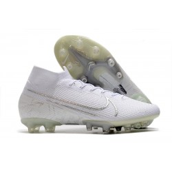 Nike Mercurial Superfly 7 AG Elite Cleats White