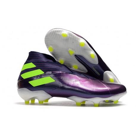 Adidas Nemeziz 19+ FG Firm Ground Boot Purple Volt