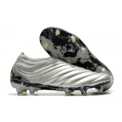 adidas Copa 20+ FG K-Leather Soccer Cleat Silver Solar Yellow
