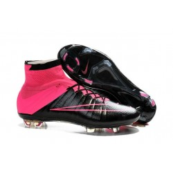 Shoes For Men - Nike Mercurial Superfly IV FG Football Cleats Leather Hyper Pink Black
