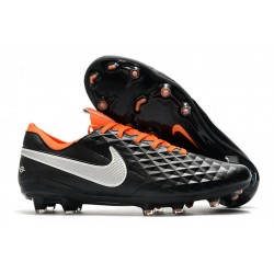 Nike Tiempo Legend VIII Elite FG Cleat Black White Orange