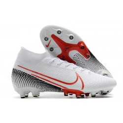 Nike Mercurial Superfly 7 AG Elite Cleats White Red