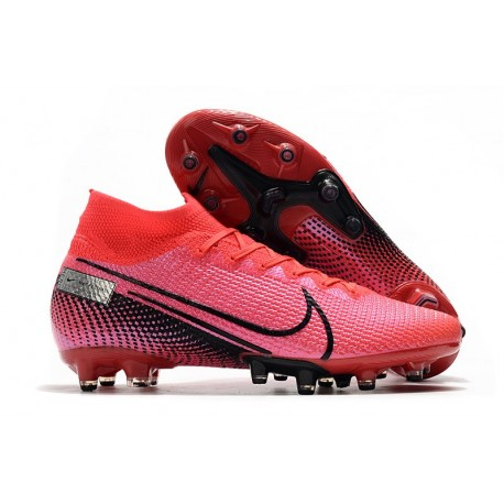 Nike Mercurial Superfly 7 AG Elite Cleats Crimson Black