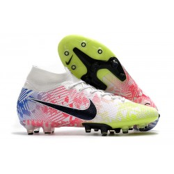 Nike Mercurial Superfly 7 AG Elite Neymar White Black Racer Blue Volt