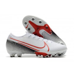 Nike Mercurial Vapor 13 Elite AG-Pro Cleats White Laser Crimson