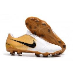 Nike Phantom VNM Elite FG Soocer Shoes White Gold Black