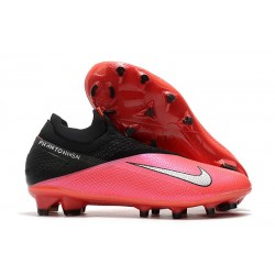 Nike Phantom VSN 2 Elite DF FG -Laser Crimson Metallic Silver Black