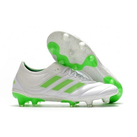 adidas Copa 19.1 FG Soccer Boots White Solar Lime