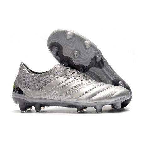 adidas Copa 19.1 FG Soccer Boots Silver Solar Yellow