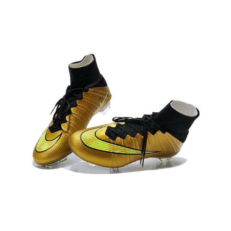 shoes for men nike mercurial superfly iv fg football cleats gold volt black. Black Bedroom Furniture Sets. Home Design Ideas