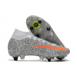 Nike Mercurial Superfly 7 Elite SG CR7 Safari-White Total Orange Black
