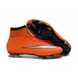 2016 Best Nike Mercurial Superfly IV FG Soccer Shoes Orange Black Silvery