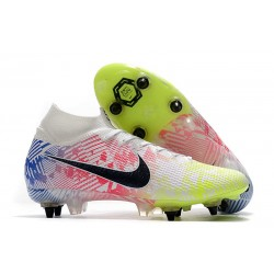 Nike Mercurial Superfly 7 Elite SG-PRO Neymar White Black Racer Blue Volt