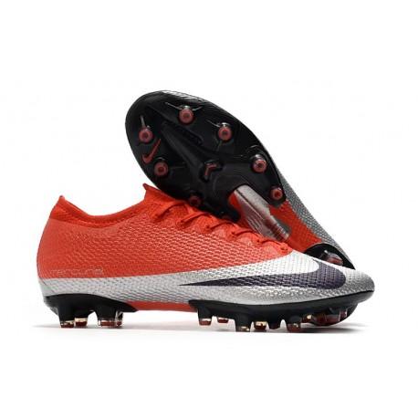Nike Mercurial Vapor 13 Elite AG-Pro Cleats Red Silver Black