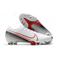 Nike Mercurial Vapor 13 Elite FG LAB2 - White Laser Crimson Black