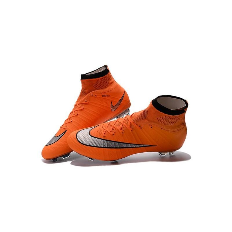 c5c1c8b78829 OrangeSilver 2016 Best Nike Mercurial Superfly IV FG Soccer Shoes Orange  Black Silvery ...