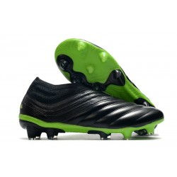 adidas Copa 20+ FG K-Leather Soccer Cleat Core Black Signal Green