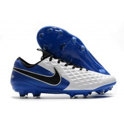 Leather Nike Tiempo Legend 8 Elite FG ACC - White Blue Black