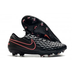 Leather Nike Tiempo Legend 8 Elite FG ACC - Black Pink