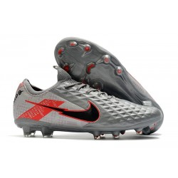 Leather Nike Tiempo Legend 8 Elite FG ACC -Bomber Grey Black Red
