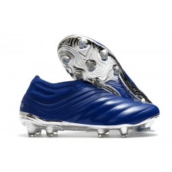 adidas Copa 20+ FG K-Leather Soccer Cleat Royal Blue Silver Metallic