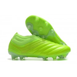 adidas Copa 20+ FG K-Leather Soccer Cleat Signal Green
