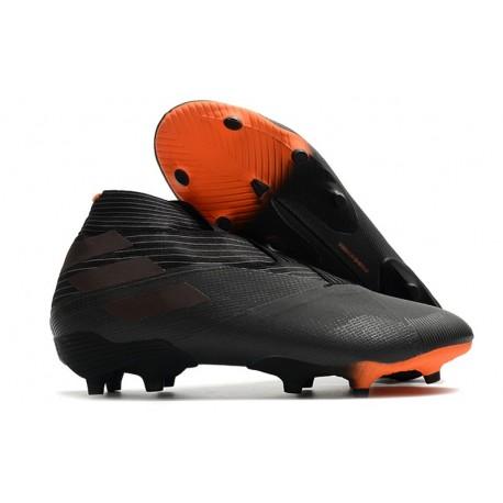 Adidas Nemeziz 19+ FG Firm Ground Boot Core Black Signal Orange