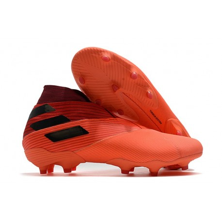 Adidas Nemeziz 19+ FG Firm Ground Signal Coral Core Black Glory Red