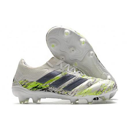 adidas Copa 20.1 FG Uniforia - White Core Black Signal Green