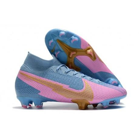 Nike Mercurial Superfly VII Elite FG Blue Pink Gold