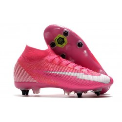 Nike Mercurial Superfly VII Elite SG AC Mbappé Rosa - Pink Blast White