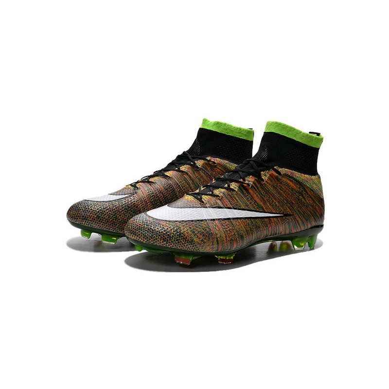 Nike Mercurial Superfly IV FG Soccer Cleats - Latest Shoes Green Black White  Multicolor